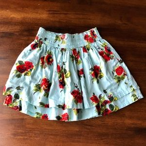 Hollister• Floral Skirt with Pockets